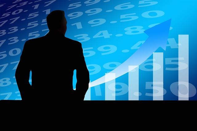 Businessman rostoucí trend